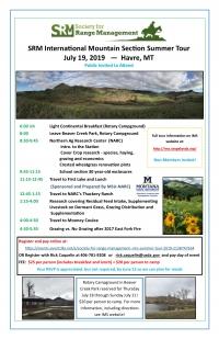 Society for Range Management IMS section Summer Tour