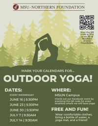 Outdoor Yoga at MSUN!