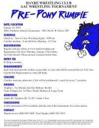 Havre Wrestling Club Pre-Pony Rumble
