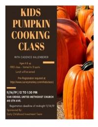 Kids Pumpkin Cooking Class