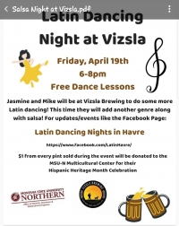 Latin Dancing Night at Vizsla Brewing