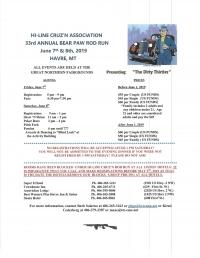Hi-Line Cruz'n Association 33rd Annual Bear Paw Rod Run