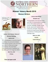 Presentation: Bold Women by Elizabeth Judy