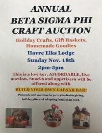 Annual Beta Sigma Phi Craft Auction