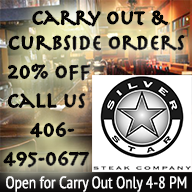 Carry Out and Curbside Orders at Silver Star Steak Co.