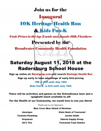 Inaugural Heritage Health Run