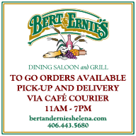Bert and Ernie's Serving Lunch and Dinner Via Inside Dining and Carry Out