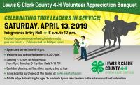 Lewis & Clark County 4-H Volunteer Banquet