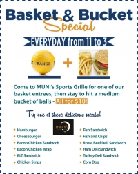 Basket & a Bucket Special at Muni's Sports Grille