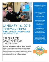 Eighth Graders' Manufacturing Night