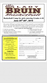 Capital Girls Basketball Camp