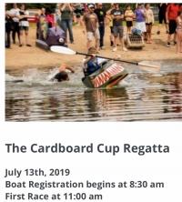Annual spring meadow resources Cardboard cup regatta