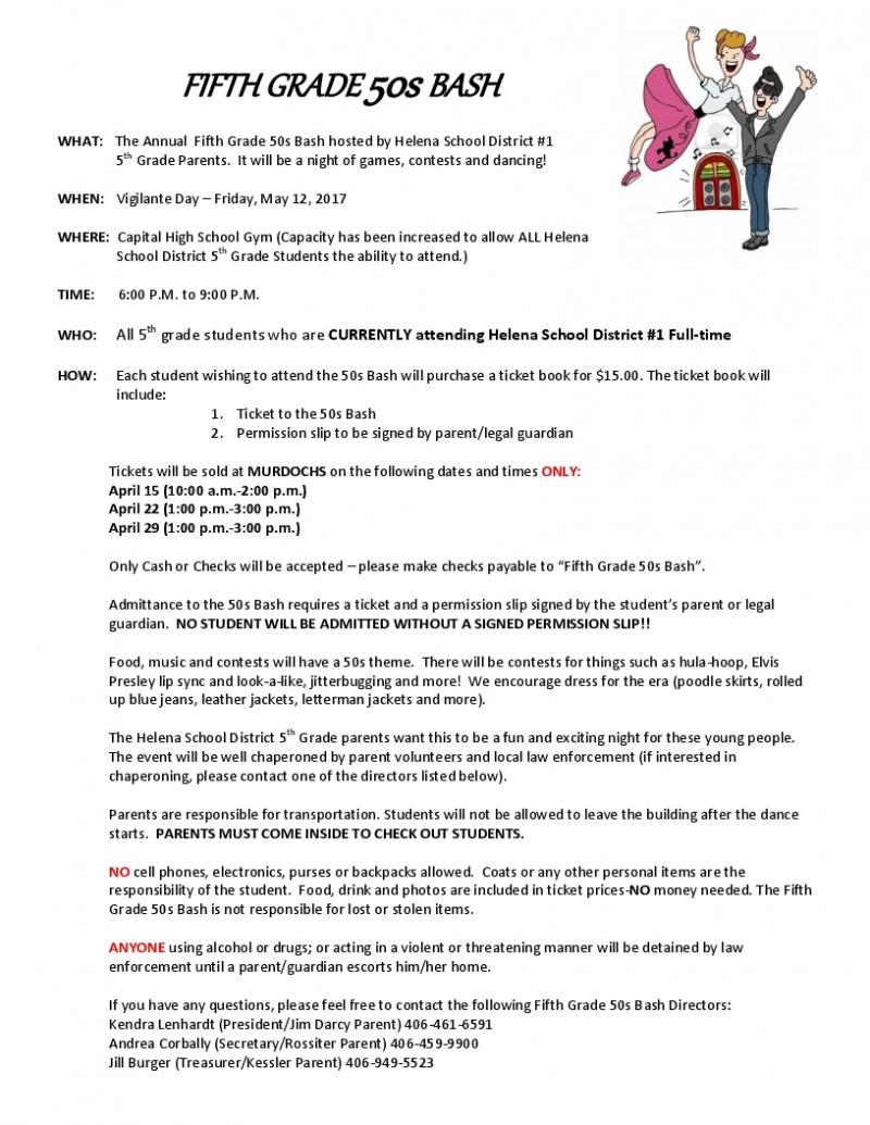 5th Grade 50s Bash 05 12 2017 Helena Montana Capital