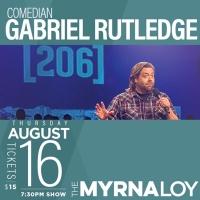 Comedian Gabriel Rutledge at the Myrna Loy