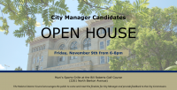 Open House to Meet City Manager Candidates
