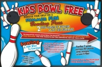 Kids Bowl Free at Sleeping Giant Lanes