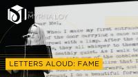 Letters Aloud: FAME