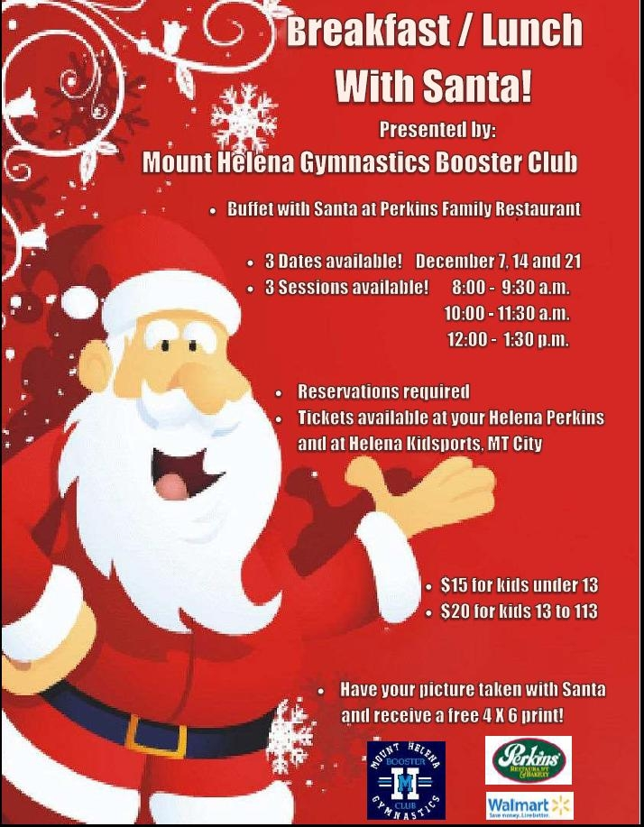 Breakfast or Lunch with Santa 12/07/2013, - Community Event