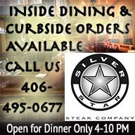 Silver Star Steak Co. Open for Inside Seating and Carry Out