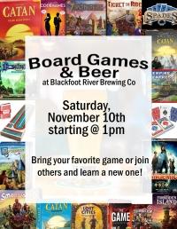 Board Games & Beer at BRBC!