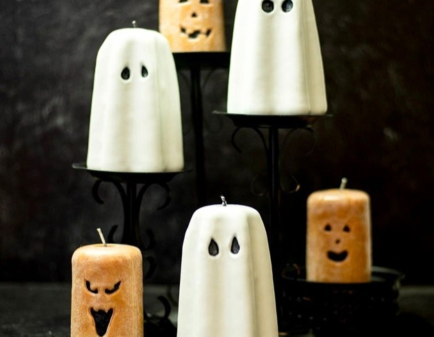 Halloween Spooks and Jack O' Lanterns Candle Carving