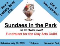 Pottery sale and Ice Cream Social