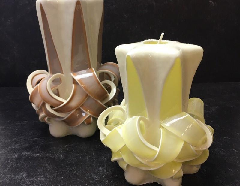 Holiday Ribbon Candle Carving