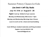 Summer Clay Classes For Kids