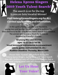 Helena Xpress Singers 2019 Youth Talent Search!