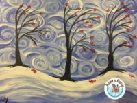 Canvas Paint n Party Winter TREES
