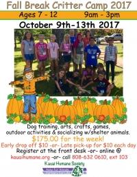 Fall Break Critter Camp