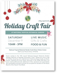 NTBG Holiday Craft Fair