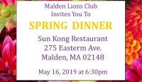 Malden Lion's Club Fundraiser for Bread of Life