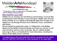 Malden Arts Mondays