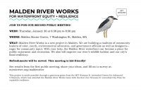 Malden River Works 2nd Public Meeting: Waterfront Park