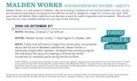 MaldenWorks Public Meeting: Malden River Waterfront