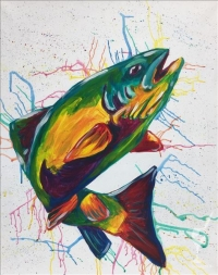 Paint and Sip: Colorful Fish