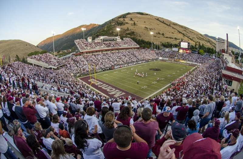 Griz Football Vs Northern Arizona 11 04 2017 Missoula Montana