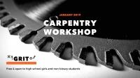 GRIT High School Carpentry Workshop