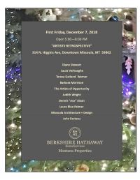 First Friday Berkshire Hathaway Montana Properties