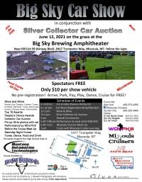 Big Sky Car Show, Auction, Music, Cruise