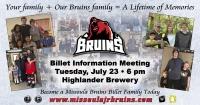 Missoula Bruins Billeting Information Meeting