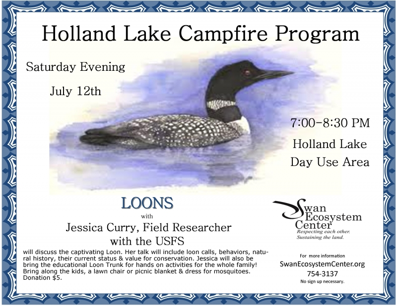 Holland Lake Campfire Program: LOONS 07/12/2014, - Education Event
