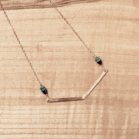 Chevron-Bar Necklace (Beginner Class)