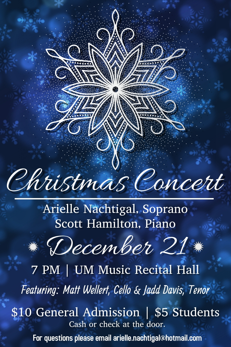Christmas December Missoula 2021 A Christmas Concert 12 21 2018 Missoula Montana University Of Montana Music Event Missoulaevents