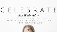 Celebrate Ash Wednesday
