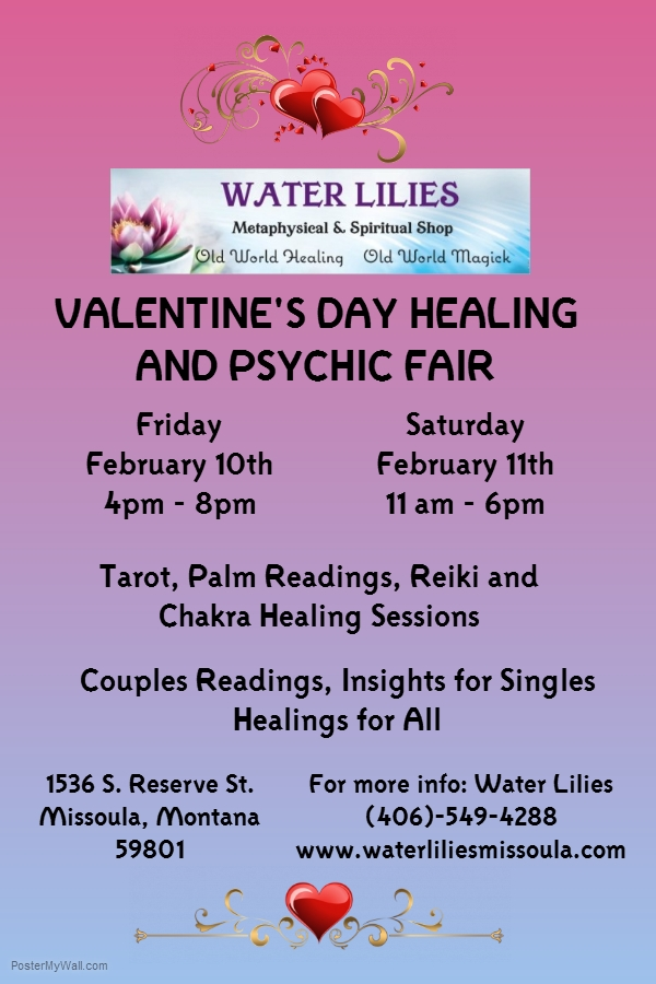 Valentines Day Healing and Psychic Fair 02/10/2017 Missoula