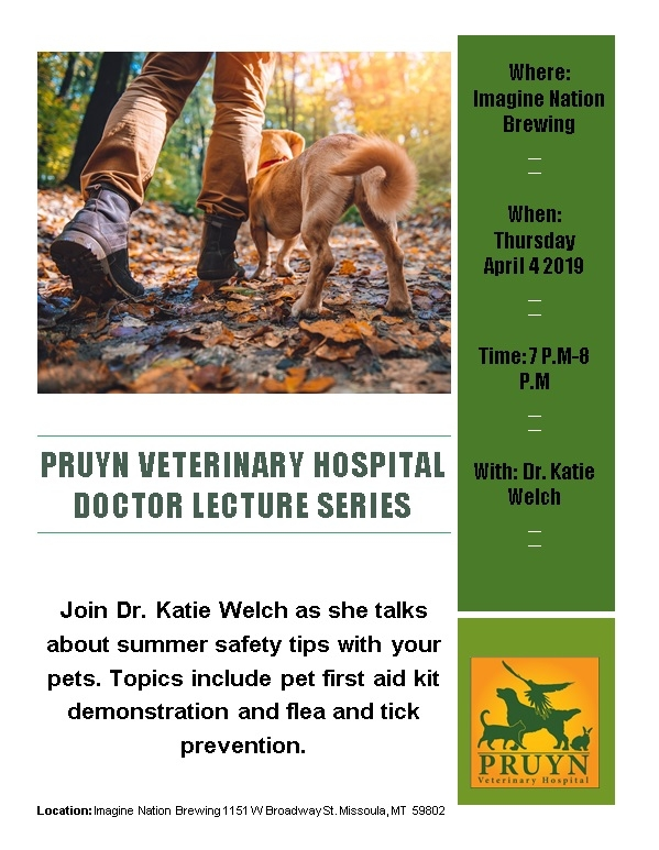 Pruyn Veterinary Doctor Lecture Series 04/04/2019 Missoula