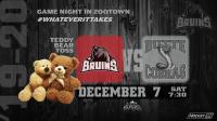 Missoula Bruins Teddy Bear Toss Night vs Butte Cobras