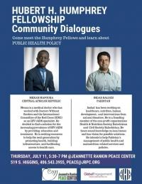 Humphrey Community Dialogues Public Health